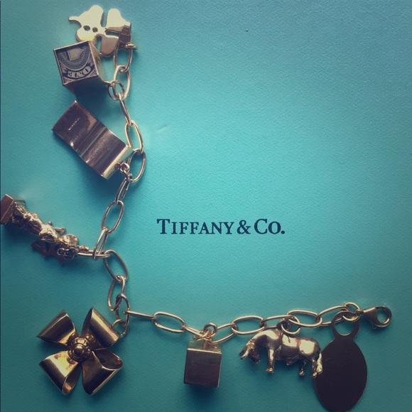 8228d3cd4 Tiffany & Co. Jewelry | 14k Tiffany Co Charm Bracelet Gold | Poshmark